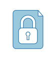 paper with safe secure padlock icon vector image vector image