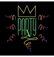 Party Handdrawn Poster vector image vector image