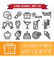 Party line icons set 38 vector image