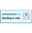 process of sending emails vector image vector image