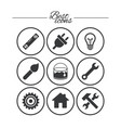 repair construction icons hammer wrench tool vector image