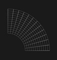 retrofuturistic bent semicircular grid cyber vector image vector image