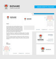 robotics business letterhead envelope and vector image
