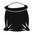 Sack full of flour icon simple style vector image vector image