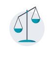 scales justice icon vector image