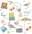 scrapbook background sketches vector image vector image