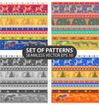 set 4 seamless patterns vector image vector image