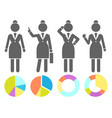 set black and white avatars businesswomen vector image vector image