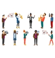set of media people and musicians vector image vector image