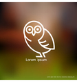 Stylized owl vector image
