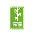 Sugar free label vector image vector image