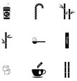 sugar icon set vector image vector image