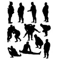 Sumo Silhouettes vector image vector image