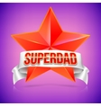 Super dad badge with ribbon vector image vector image