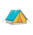 tent camp icon cartoon style vector image vector image