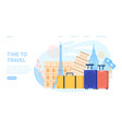 time to travel web page template vector image vector image