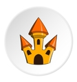 Toy castle icon cartoon style vector image vector image
