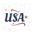 usa lettering vintage label badge with retro vector image vector image