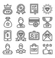 vip icons set on white background line style vector image vector image