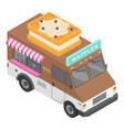 waffles truck icon isometric style vector image