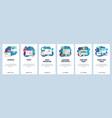 web site onboarding screens website development vector image