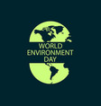 world environment day banner design logo design vector image