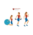 Young adult exercising in fitness gym vector image vector image
