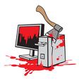 dead computer vector image
