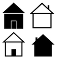 Set of the silhouettes houses vector image