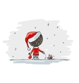 Santa with gifts christmas for your vector image