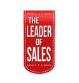 the leader of sales banner design vector image