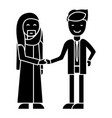 arab business partnership businessmen handshak vector image vector image