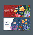 banner design with sealife theme creative vector image vector image