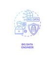 big data engineer concept icon vector image
