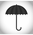 Black and isolated umbrella design vector image
