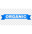 blue stripe with organic title vector image