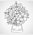 bouquet flowers vector image vector image
