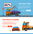 car accident in town car vector image