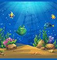 cartoon fish in underwater world vector image vector image