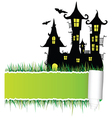 castle with tearing paper vector image vector image