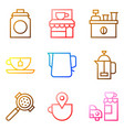 coffee related icon set gradient stye vector image vector image