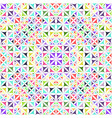 colorful abstract seamless curved triangle vector image vector image
