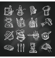 Cooking icons sketch vector image vector image