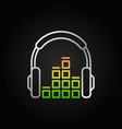 creative headphones with sound equalizer vector image