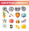 cryptocurrency coins icon set crypto cash vector image