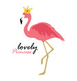 cute little lovely princess background with pink vector image vector image
