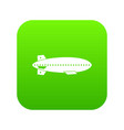 dirigible balloon icon digital green vector image vector image