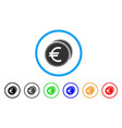 euro coins rounded icon vector image vector image