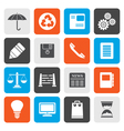 Flat Business and Office internet Icons vector image vector image
