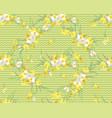 floral narcissus retro vintage background vector image vector image